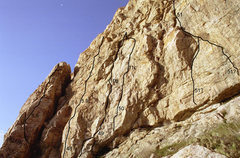 Rock Climbing Photo: Schoolroom Wall – Left  47. South Ridge]*** 5.6 4...