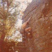 Rock Climbing Photo: Hard problem in those days.