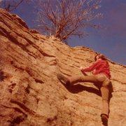 Rock Climbing Photo: Joe W. warming up/ stretching out.