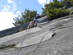 Rock Climbing Photo: Topping out On Line 5.10b
