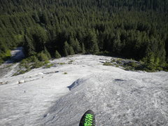 Rock Climbing Photo: Looking down at a sea of granite