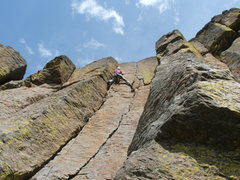 Rock Climbing Photo: Climber on Developing Arms 5.9