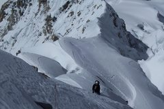 Rock Climbing Photo: the ridge steepens, begins to join the face. Diffi...