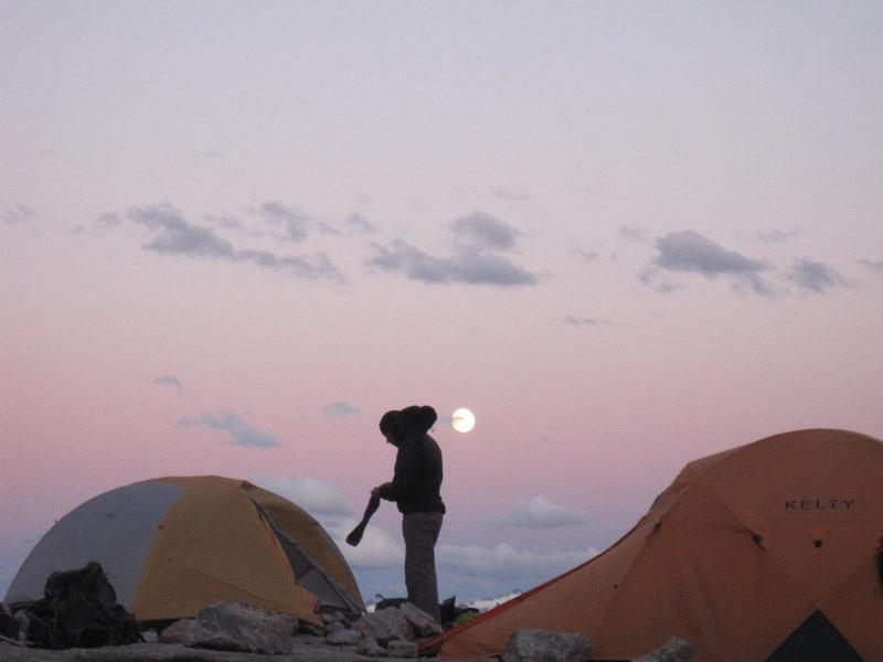 Applebee camp. Alpenglow
