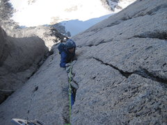 Rock Climbing Photo: High on the beckey chouinard. Nice .10a variation ...