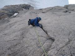 Rock Climbing Photo: sunshine crack. If there's a better climb in the u...