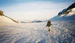 Rock Climbing Photo: Bonar glacier. Good weather? Not gonna last, I tel...