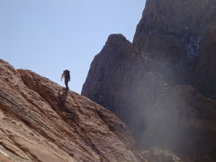Rock Climbing Photo: Moving toward the 4th class descent on the traditi...
