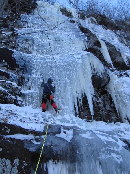 Rock Climbing Photo: Starting pitch 2 of The Curtain.  It's cruiser, bu...