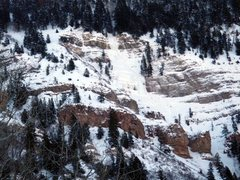 Rock Climbing Photo: Snow and ice on Dexter Creek Slabs, President's Da...