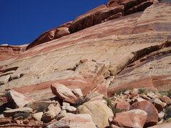 Rock Climbing Photo: Sunshine Wall, main area, 10-14-05.