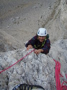 Rock Climbing Photo: Topping out on pitch 7
