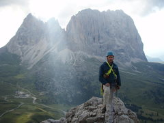 Rock Climbing Photo: Punta Grohmann, Cinque Dita and Sassolungo from th...