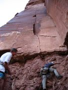 Rock Climbing Photo: First you must battle the Chinle.
