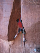 Rock Climbing Photo: Socks give you power, son.