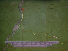 Rock Climbing Photo: Half Dome map.  Yellow - the Sprucewood approach d...