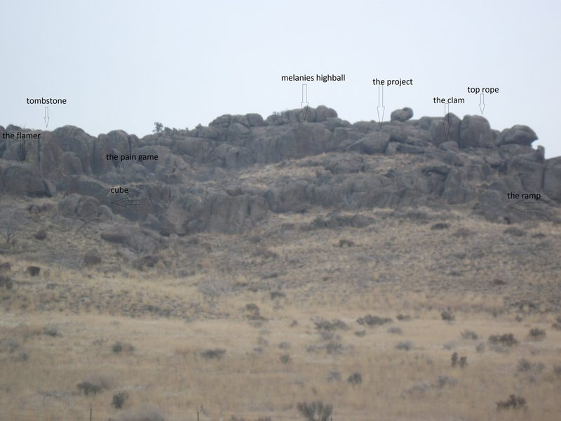 Rock Climbing Photo: boulders from the road