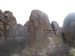 Rock Climbing Photo: boulder next to the tombstone