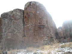 Rock Climbing Photo: melanies high ball boulder