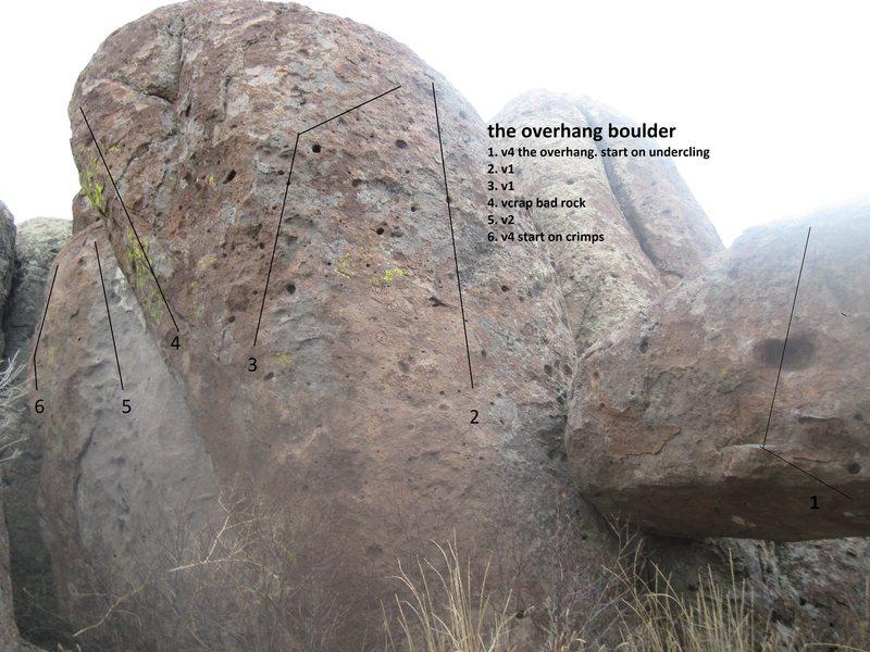 the overhang boulder