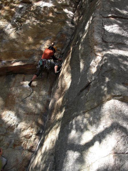 Rock Climbing Photo: The Spring's P1 crux