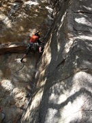 Rock Climbing Photo: The Spring's P1 crux