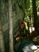 Rock Climbing Photo: Nate on the sloping rail