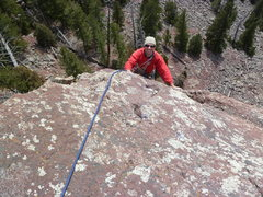 Rock Climbing Photo: Topping out on Fin one via Ghetto Cruiser.