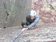 Rock Climbing Photo: Below the last bolt near the end of the 5.10 climb...