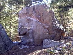 Rock Climbing Photo: The Ship's Prow (V3) climbs the left prow on edges...
