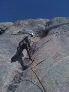 Rock Climbing Photo: Start of pitch 4