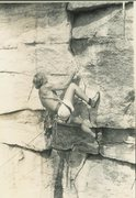 Rock Climbing Photo: An early attempt of Persistence, Lost City... ~'82