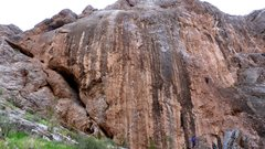 Rock Climbing Photo: The awsome limestone of the Blasphemy Wall