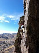 Rock Climbing Photo: Steve Appling enjoying the amazingly warm winter d...