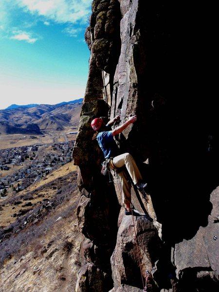 Rock Climbing Photo: Nice climbing.  Steve Appling.  Photoshopped.