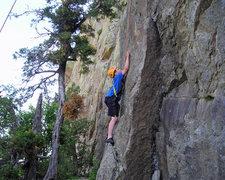 Rock Climbing Photo: Alex doing doughnuts.