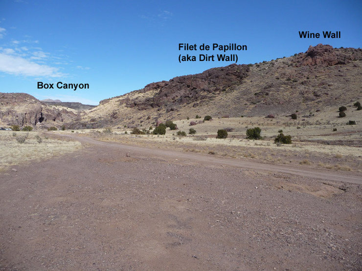 Rock Climbing Photo: Location of Wine Wall