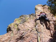 Rock Climbing Photo: On the last pitch which is the best of the route.