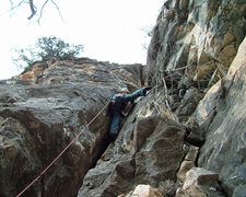 Rock Climbing Photo: The big chimney route!