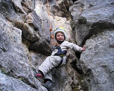 Rock Climbing Photo: Dillon talking a walk