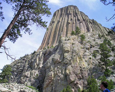 Rock Climbing Photo: Big rock small route