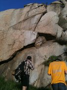 Rock Climbing Photo: the route follows the undercling up and right, the...