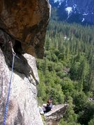 Rock Climbing Photo: Megan, consulting the guidebook for me after my &q...