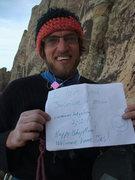 Rock Climbing Photo: Jon, proud boyfriend of Jasmine and owner of birth...