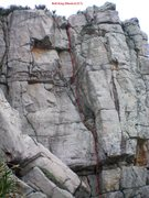 Rock Climbing Photo: Bull King Dihedral (5.7)