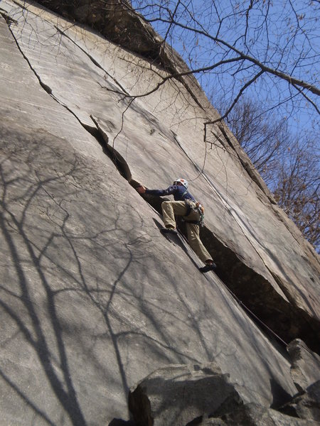 Rock Climbing Photo: Eric at the crux of Granola