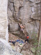 Rock Climbing Photo: Eric at the bouldery start