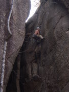 Rock Climbing Photo: Eric at the sustained crux