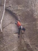 Rock Climbing Photo: Me plugging the crux gear