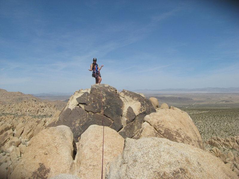 Agina Sedler atop Moosedog Tower near the rap chains.